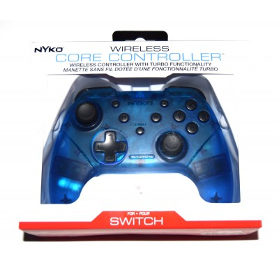 Mando Pro compatible Switch Bluetooth Nyko azul transparente