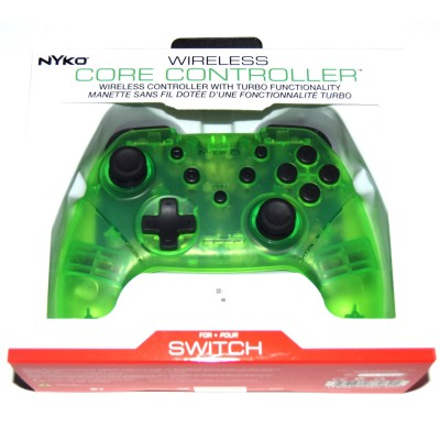 Mando Pro compatible Switch Bluetooth Nyko verde transparente