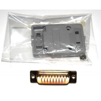 Conector SUB-D 19 macho + carcasa