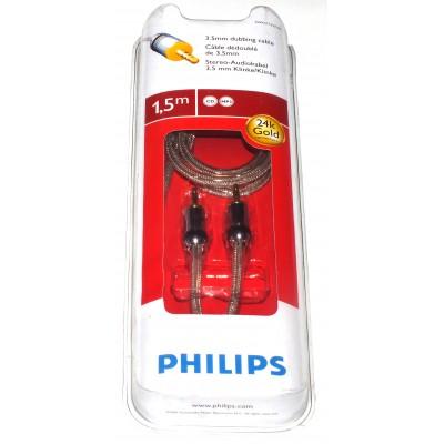 Cable audio estéreo Jack 3.5 macho a jack 3.5 macho 1.5m. Philips