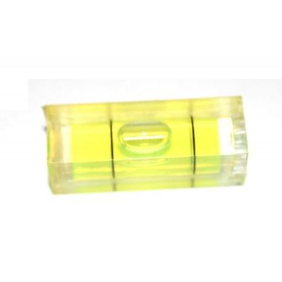 Nivel burbuja rectangular para pegar 29x10x10mm