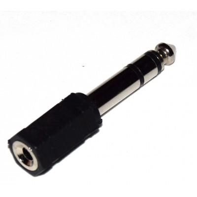 Adaptador minijack 3.5mm a jack 6.35mm estéreo