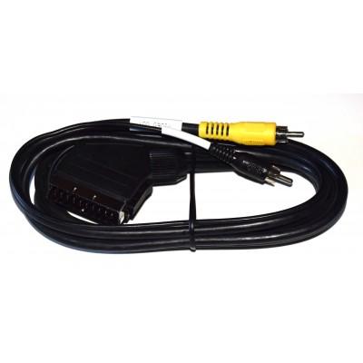 Cable 2 RCA a Euroconector macho-macho 2m.