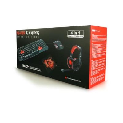 Pack iniciación PC Gaming Mars (teclado+ratón+auriculares+alfombrilla)