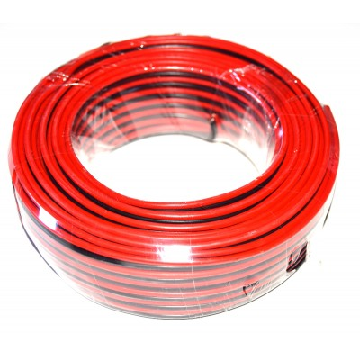 Cable paralelo altavoz rojo-negro 1.5mm2 CCA (25m.)