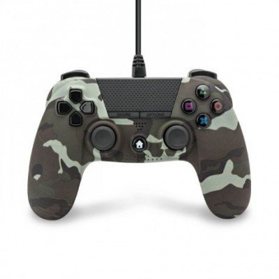 Mando compatible Playstation 4 con cable (camuflaje)
