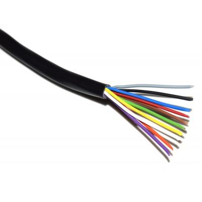 Cable manguera 10x0.20mm2 negro (a metros)