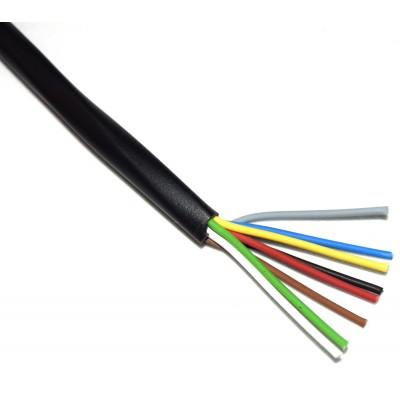 Cable manguera 8x0.20mm2 negro (a metros)