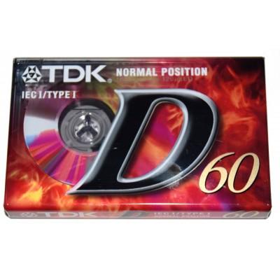Cinta de Cassette vírgen TDK D60