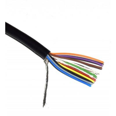 Cable manguera apantallado 10x0.20mm2 negro (a metros)