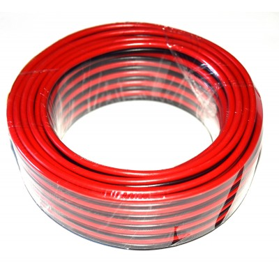 Cable paralelo altavoz rojo-negro 0.75mm2 CCA (10m.)