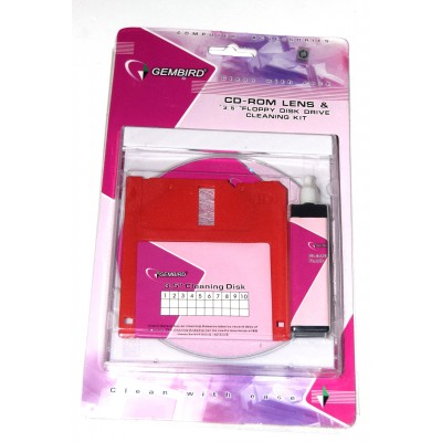Pack CD limpiador + Disquete 3 1/2 limpiador