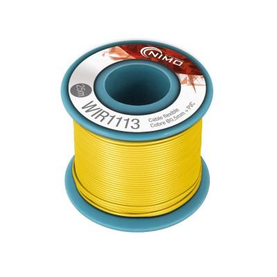 Rollo 25m. cable conexión flexible 0.5mm amarillo