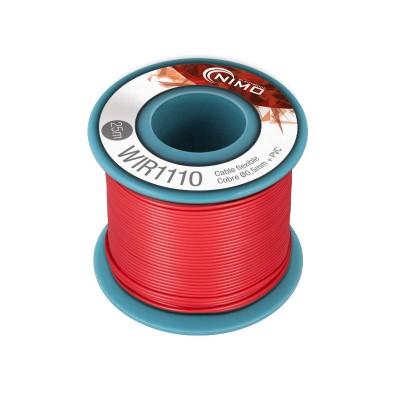Rollo 25m. cable conexión flexible 0.5mm rojo